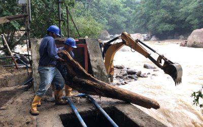 Logramos culminar las labores de mantenimiento y adecuación del sistema de captación sobre el Río Hacha