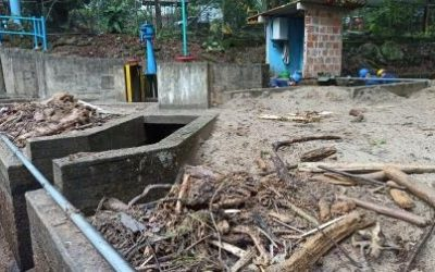 Creciente de los ríos Hacha y Caraño, afectaron el sistema de captación en la bocatoma Caraño