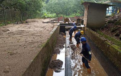 Continúan trabajos de mantenimiento en la bocatoma Caraño